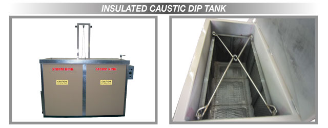 Insulated Caustic Dip Tank
